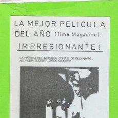 Cine: PROGRAMA DE CINE LOCAL...EL EXPRESO DE MEDIANOCHE. Lote 35951684