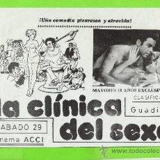 Cine: PROGRAMA DE CINE LOCAL...LA CLINICA DEL SEXO. Lote 35951720