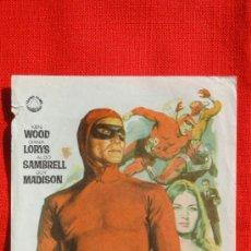 Cine: SUPERARGO EL GIGANTE, SENCILLO ORIGINAL, KEN WOOD DIANA LORYS, SIN PUBLICIDAD. Lote 35959681