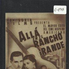 Cine: ALLA EN EL RANCHO GRANDE - DOBLE - SALON NACIONAL - (C-1.177). Lote 36009752