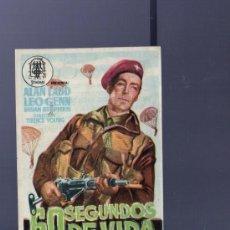 Cine: PROGRAMA DE CINE. CON PUBLICIDAD. 60 SEGUNDOS DE VIDA. LADD, GENN. TEATRO CIRCO. 1955. . Lote 36024593