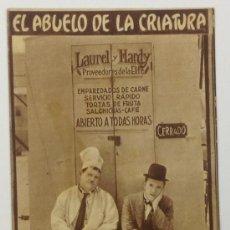 Cine: EL ABUELO DE LA CRIATURA. STAN LAUREL, OLIVER HARDY. TARJETA. METRO GOLDWYN MAYER.. Lote 36025096