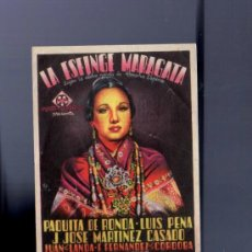 Cine: PROGRAMA DE CINE. CON PUBLICIDAD. LA ESFINGE MARAGATA. DE RONDA, PENA. GRAN CINEMA. 1951. . Lote 36027966