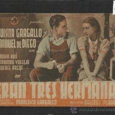 Cine: ERAN TRES HERMANAS -DOBLE - TEATRO CERVANTES - (C-1.197). Lote 36049411