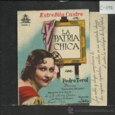 Cine: LA PATRIA CHICA - DOBLE - SALON NACIONAL - (C-1.198). Lote 36049467