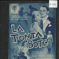 Cine: LA TONTA DEL BOTE -DOBLE - SALON NACIONAL -(C-1.203). Lote 36049653
