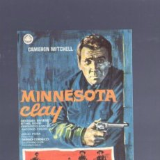 Cine: PROGRAMA DE CINE. CON PUBLICIDAD. MINNESOTA CLAY. MITCHELL. SALON ALCAZAR, MAHON. 1966. . Lote 36041846