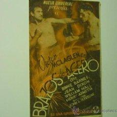 Cine: PROGRAMA DOBLE BRAZOS DE ACERO . VICTOR MAC LAGLEN-PUBLICIDAD. Lote 36081797