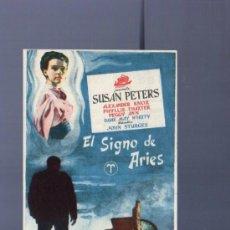 Cine: PROGRAMA DE CINE. CON PUBLICIDAD. EL SIGNO DE ARIES. SUSAN PETERS. TEATRO MAIQUEZ. 1951.. Lote 192786678
