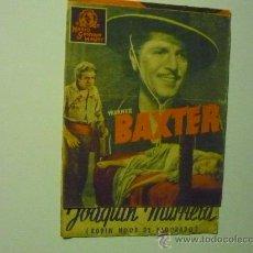 Cine: PROGRAMA DOBLE JOAQUIN MURRIETA . -WARNER BAXTER -PUBLICIDAD. Lote 36181112