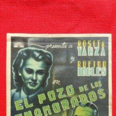 Cine: EL POZO DE LOS ENAMORADOS, SENCILLO ROGINAL GRANDE, ROSITA YARZA, SIN PUBLICIDAD. Lote 36187096