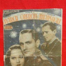 Cine: EL ANGEL DE LAS TINIEBLAS, DOBLE AÑOS 30, FREDERICH MARCH MERLE OBERON, CON PUBLICIDA SALO CATALUNYA. Lote 36274075
