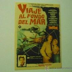 Cine: PROGRAMA VIAJE AL FONDO DEL MAR .- W.PIDGEON - J.FONTAINE-PUBLICIDAD. Lote 261987800
