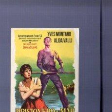 Cine: PROGRAMA DE CINE. S/P. PRISIONERO DEL MAR. KARMAT, S.L. LIT. VELASCO, MADRID.. Lote 194631770