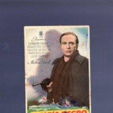 Cine: PROGRAMA DE CINE. S/P. EL ESPIA NEGRO .COLL, BARCELONA. . Lote 36435633