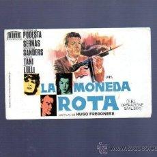 Cine: PROGRAMA DE CINE. S/P. LA MONEDA ROTA. LIT. MELGUIZO, LEON. . Lote 36435703