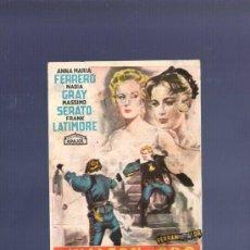 Cine: PROGRAMA DE CINE. S/P. EL HALCON DE ORO. FERRE OLSINA, BARNA. . Lote 36435807