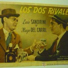 Folhetos de mão de filmes antigos de cinema: PROGRAMA LOS DOS RIVALES .-LUIS SANDRINI. Lote 36420561