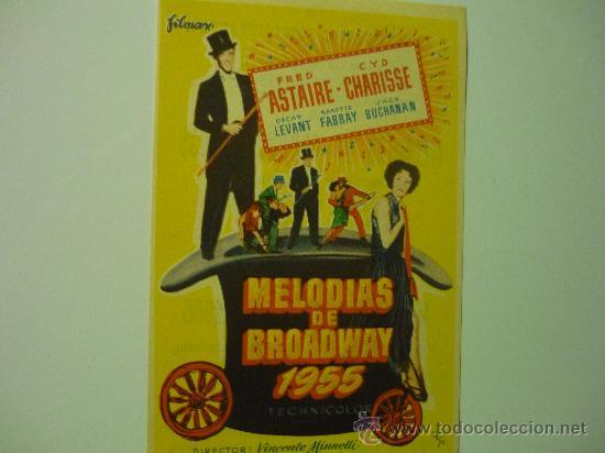 PROGRAMA MELODIAS DE BROADWAY--FRED ASTAIRE (Cine - Folletos de Mano - Musicales)