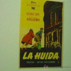 Cine: PROGRAMA LA HUIDA.- PUBLICIDAD. Lote 36420750