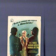 Cine: PROGRAMA DE CINE. S/P. EL ALMIRANTE CANARIS. RUMBO. . Lote 36452477