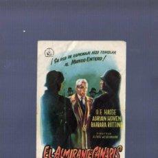 Cine: PROGRAMA DE CINE. S/P. EL ALMIRANTE CANARIS. RUMBO. . Lote 36467016