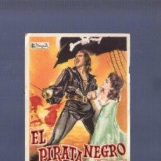 Cine: PROGRAMA DE CINE. S/P. EL PIRATA NEGRO. GRAFICAS VALENCIA. . Lote 36467133