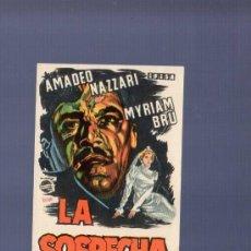 Cine: PROGRAMA DE CINE. S/P. LA SOSPECHA. I.G., MARI, BARCELONA. . Lote 36537465