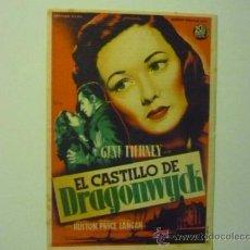 Cine: PROGRAMA EL CASTILLO DE DRAGONWYCK-GENE TIERNEY -PUBLICIDAD. Lote 36504129