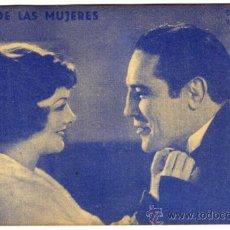 Flyers Publicitaires de films Anciens: PROGRAMA CINE - IDOLO DE LAS MUJERES - MAX BAOR - PRIMO CARNERA - MYRNA LOY. Lote 190038136