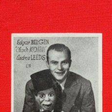 Cine: CARTA DE PRESENTACION, IMPECABLE SENCILLO, E BERGEN, CON PUBLI XI FERIA MUESTRAS BARCELONA 1943. Lote 36537095