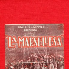 Cine: LA MARSELLESA, DOBLE 1931, JOHN BOLES Y LAURA LA PLANTE, CON PUBLICIDAD TEATRO FORTUNY. Lote 36541511