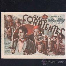 Cinema - PROGRAMA DE CINE CARTON. SIN PUBLICIDAD. DIEGO CORRIENTES. MESTRE Y MONZONIS, VALENCIA. - 36555074