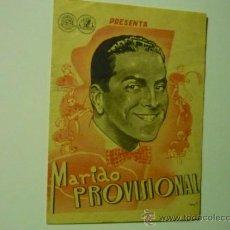Cine: PROGRAMA DOBLE MARIDO PROVISIONAL .-ROBERTO REY .-MARIA MERCADER. Lote 36567163
