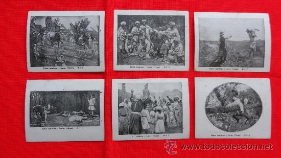 ENTRE HOMBRES Y FIERAS, 6 RECLAM TIKET FILMS, SERIE COMPLETA CON ARGUMENTO, 1915 (Cine - Folletos de Mano - Aventura)