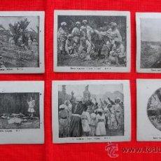 Cine: ENTRE HOMBRES Y FIERAS, 6 RECLAM TIKET FILMS, SERIE COMPLETA CON ARGUMENTO, 1915. Lote 36615547