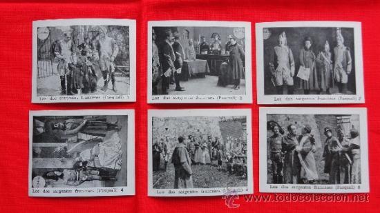 LOS DOS SARGENTOS FRANCESES, 6 RECLAM TIKET FILMS, IMPECABLE SERIE COMPLETA CON ARGUMENTO, 1913 (Cine - Folletos de Mano - Bélicas)