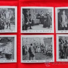 Cine: LOS DOS SARGENTOS FRANCESES, 6 RECLAM TIKET FILMS, IMPECABLE SERIE COMPLETA CON ARGUMENTO, 1913. Lote 36616775