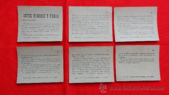 Cine: Entre hombres y fieras, 6 Reclam tiket films, serie completa con argumento, 1915 - Foto 2 - 36615547