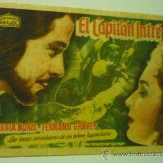 Cine: PROGRAMA EL CAPITAN INTREPIDO .- FERNAND GRAVEY .-ARAJOL PUBLICIDAD. Lote 36633140
