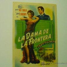 Cine: PROGRAMA LA DAMA DE LA FRONTERA .- YVONE DE CARLO .- ROD CAMERON. Lote 36635153