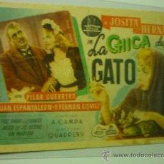 Cine: PROGRAMA LA CHICA DEL GATO .-JOSITA HERNAN - F.F.GOMEZ. Lote 36635175
