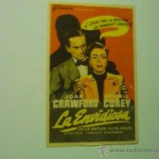 Cine: PROGRAMA LA ENVIDIOSA- JOAN CRAWFORD -PUBLICIDAD. Lote 36635205