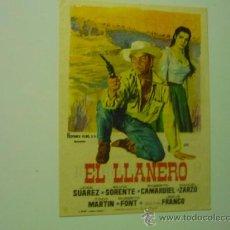 Cine: PROGRAMA EL LLANERO .- JOSE SUAREZ -PUBLICIDAD. Lote 36635211