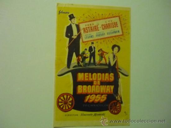 PROGRAMA MELODIAS DE BROADWAY 1955 - FRED ASTAIRE-PUBLICIDAD (Cine - Folletos de Mano - Musicales)