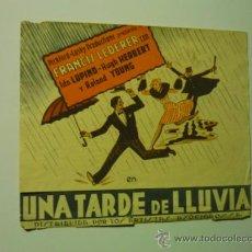 Cine: PROGRAMA DOBLE UNA TARDE DE LLUVIA .- FRANCIS LEDERER -PUBLICIDAD. Lote 36639733