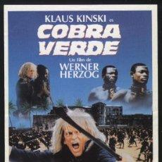 Cine: P-1296- COBRA VERDE (KLAUS KINSKI - PETER BERLING - JOSÉ LEWGOY - KING AMPAW). Lote 36641690