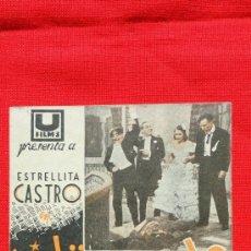 Cine: LOS HIJOS DE LA NOCHE, DOBLE 1940, EXCTE. ESTADO, ESTRELLITA CASTRO MIGUEL LIGERO, CON PUBLI CAPITOL. Lote 36641723