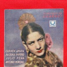 Cine: MARIA DE LA O, IMPECABLE SENCILLO GRANDE 1940, CARMEN AMAYA PASTORA IMPERIO, CON PUBLI FORTUNY REUS. Lote 36642043