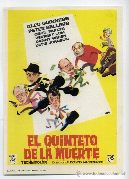 EL QUINTETO DE LA MUERTE, CON PETER SELLERS. (Cine - Folletos de Mano - Comedia)